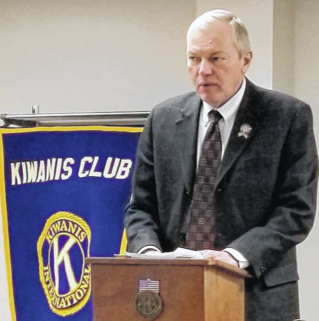 State Rep. Bill Reineke speaks to the Mount Gilead Kiwanis Club on Jan. 22.