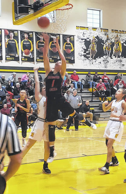Cardington's Casey Bertke became her team's leading career scorer in the Pirates' Saturday win at Northmor. Bertke now is the program leader in points, rebounds and blocked shots.
