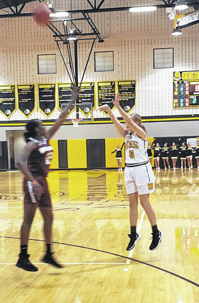 Northmor's Paige Caudill scored 13 points in her team's sectional win over Harvest Prep on Friday.