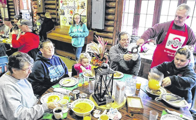 Families enjoy the annual Maple Syrup Festival. It will be held Sunday, March 8 at the Lutheran Memorial Camp.