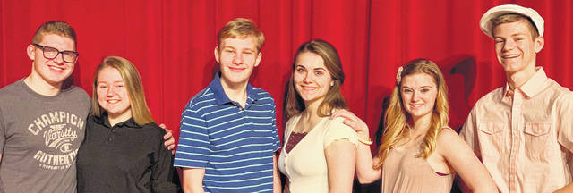 "The Cardington-Lincoln School Drama Department is presenting the production, ""High School Musical,"" on March 12, 13 and 14. It will be performed on the stage of the Drouhard Auditorium with the curtain rising at 7:30 p.m. Admission at the door is $8 for adults and $5 for students. Six cast members of ""High School Musical"" are, from left: Luke Goers, Abigail Devore, Dalton Edwards, Grace Struck, Madison Brehm and Ryan Clinger."