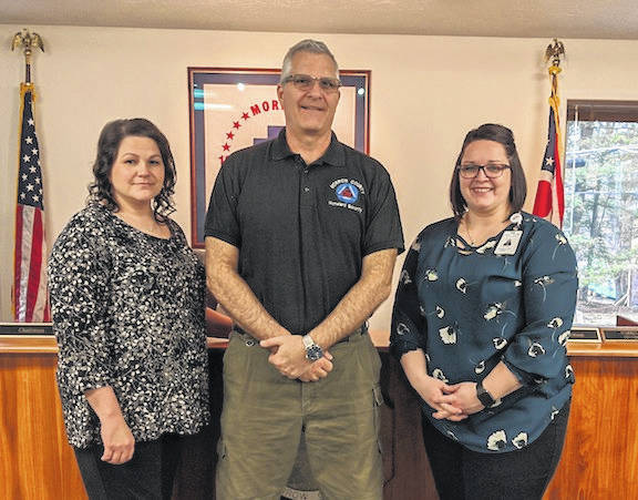 County Health officials gave response to COVID-19 at the Commissioners meeting Wednesday. From left Morrow County Health Commissioner Stephanie Bragg, Morrow County Emergency Management Director John Harsch and Morrow County Hospital Acute Care and Infection Control Manager Jessica Schwartz.