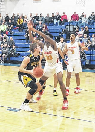 Blake Miller put in 19 points for Northmor Tuesday night in their Division III district semifinal contest against Worthington Christian.