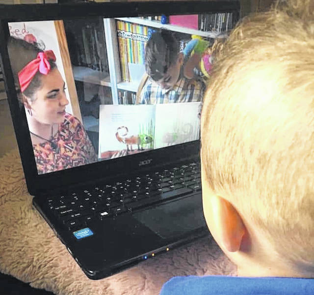 Children are able to watch Selover Library librarian Brielle Kincaid's online Story Time from home.