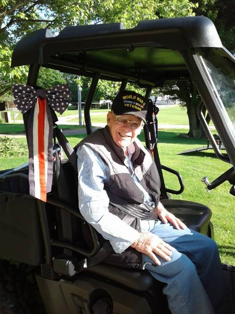 Courtesy photo Ralph Gordon, of Mount Gilead, will turn 100 on April 30. He is a resident of Woodside Village Care Center, 841 West Marion Road. His family is planning a drive-by parade at 1:30 p.m. to celebrate this veteran's big day. The Morrow County community is invited to take part in the celebration.