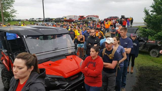 Hundreds of people arrived in Fort Jennings by 7 a.m. Friday to help search for 5-year-old Isaac Schroeder, who has autism and has been missing since Wednesday afternoon.