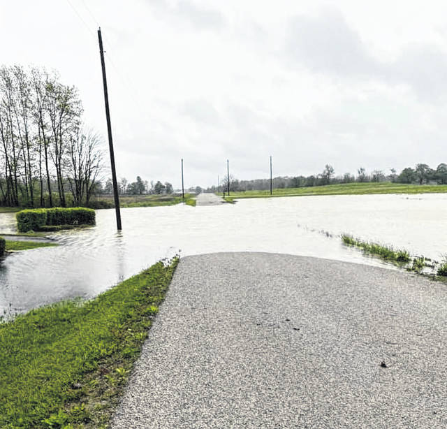 High water made some county roads impassable last week, including Township Road 188.