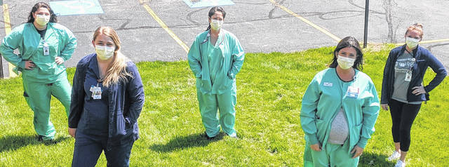 May is nurses month and several nurses at Morrow County Hospital took a few minutes out of their schedule for a photo Thursday morning. They are glad the hospital is resuming some surgeries and procedures.