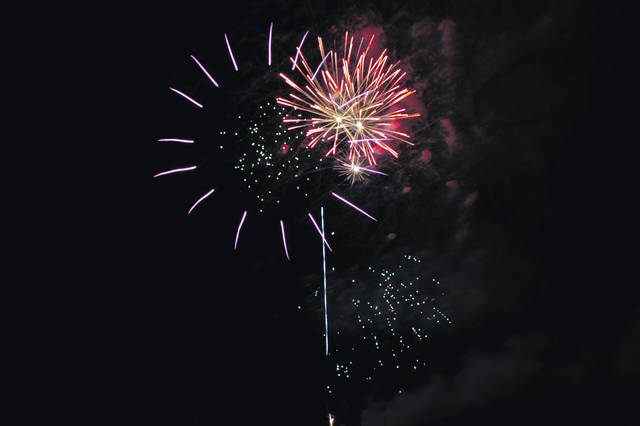 Fireworks lit up the sky Saturday night in Cardington.