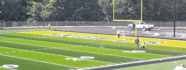 Work continues to progress on Northmor's new football field. The project, which was initially reported on in May, is expected to be completed in the near future.