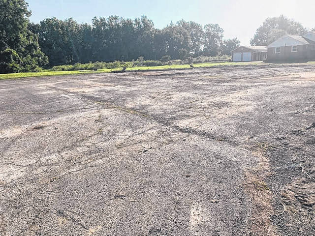 The old Gas Town building on State Route 95 was demolished and removed with the property cleared. It is unknown what the plans are for the site.