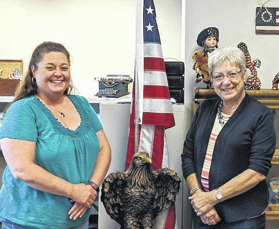 April Brown, Deputy Director of the Morrow County Board of Elections (left) and Penny Porter, Director of the Board of Elections.