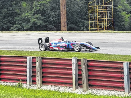 Christian Rasmussen had a big week at Mid-Ohio, winning all three USF 2000 races held over Wednesday and Thursday.