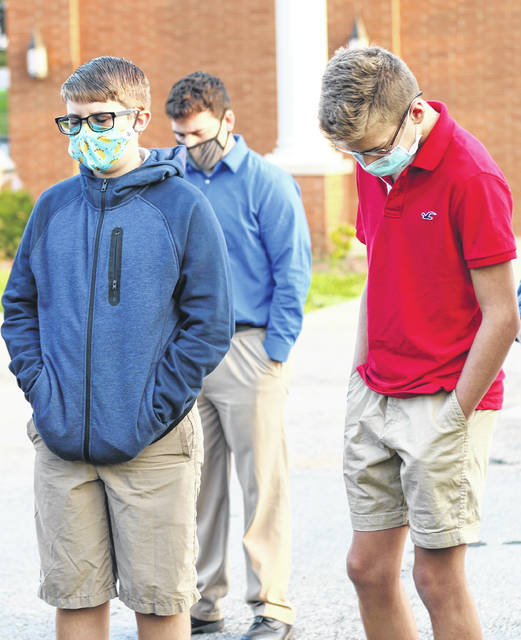 Gilead Christian School students took part in See You at the Pole on Sept.23.
