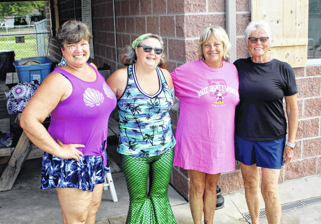 Coaches summer classes of Water Fitness Classes, from left: Lisa King, Angela Dendinger, Jill Lee and Charlotte Chipps.