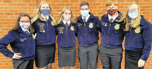 Pictured are the Cardington FFA students who attended the recent Ohio Legislative Leadership Conference. From left: Marcy Rollins, Camrie Meyers, Brooke Clapham, Bryce Moodispaugh, Sam West-Miller and Morgan White.