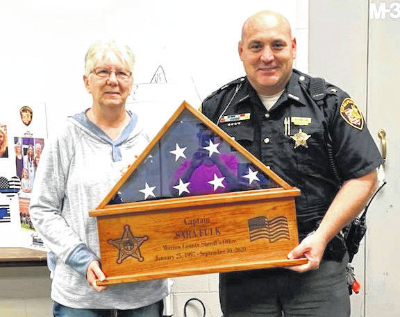 Capt. Sara Fulk retired after serving the agency for 23 and 1/2 years, as a deputy, sergeant, lieutenant and captain.