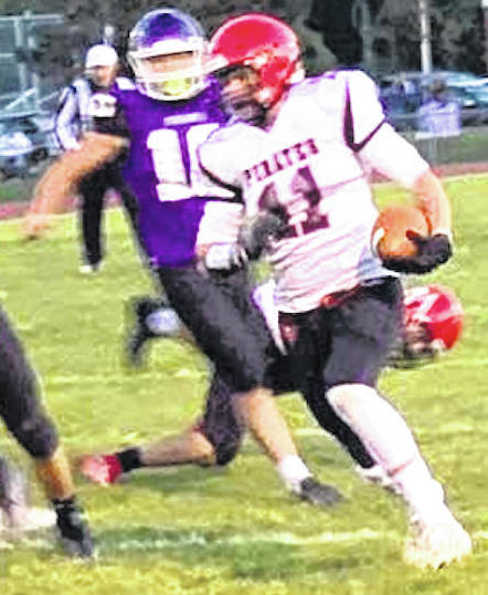 Cardington receiver Trey Brininger was named the Offensive Player of the Year for the Central District in Division VII.