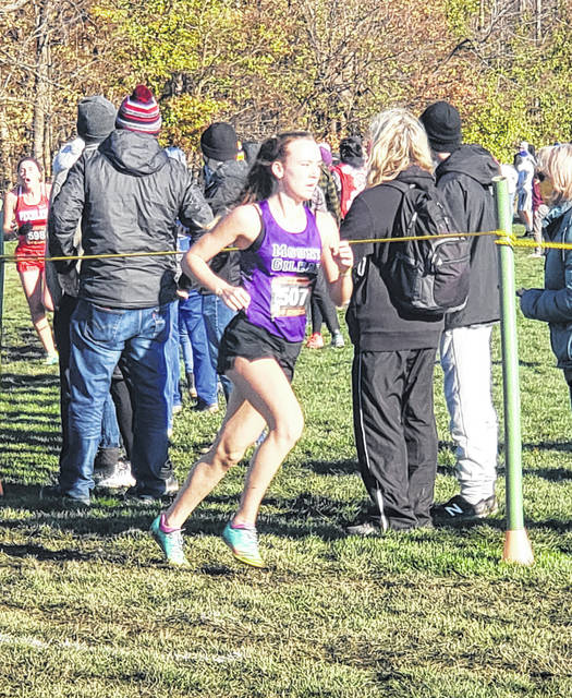 Emily Hanft had a top-10 finish in Saturday's regional meet to assist Mount Gilead in cruising to a team title.