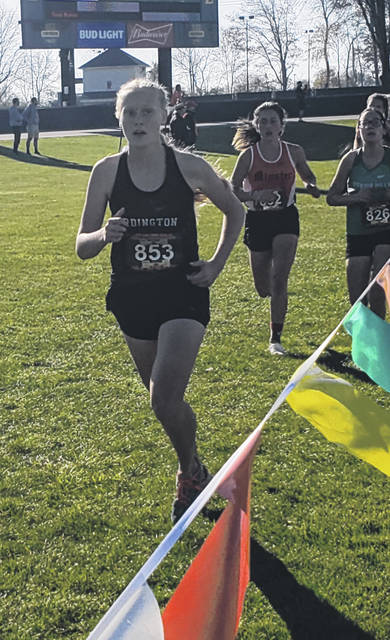 Cardington's Loey Hallabrin picked up All-Ohio honors for the second time in her two years of running high school cross country on Saturday.
