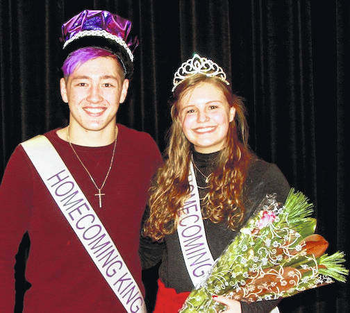 Mount Gilead Homecoming King, Andy Williamson and Queen, Kaitlynn Pfeiffer.