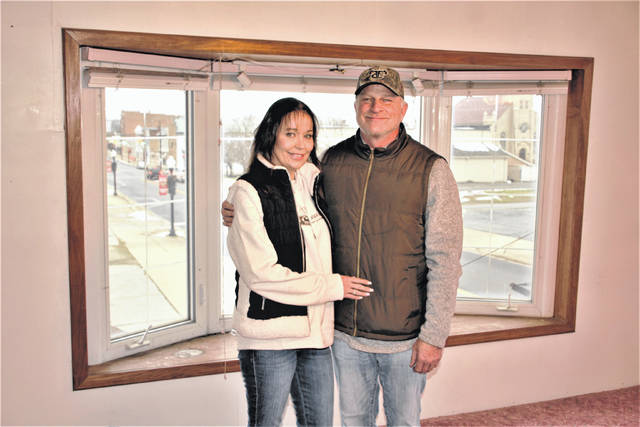 Misty and Phil Dew are the owners of The R&R BNB, located at 343 Harding Way East in Galion. The new bed and breakfast facility is scheduled to open in February, the Dews said. The upper floor of the two-story building features two large rooms, a full kitchen, and full bathroom and great views of Uptowne Galion and the Big Four Depot. The Dews are shown standing in front of a bay window that faces west.