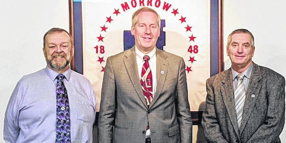 Morrow County Board of Commissioners on Jan. 4, from left: Tim Siegfried, Tom Whiston and Tim Abraham.