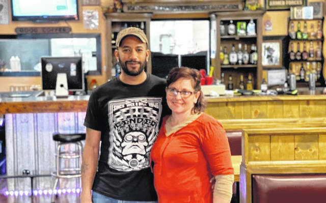 Daniel West and Avanza Vaile, proprietors of the Main Street Bar and Grill in Cardington.
