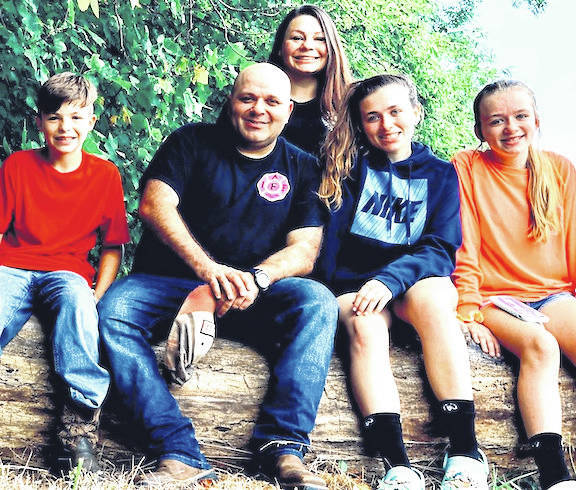 Springfield Township Fire Chief Matt Carey and his family.