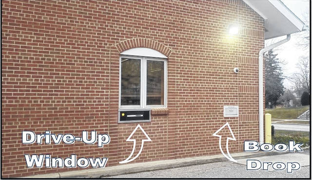 The Mount Gilead Public Library's new drive-up window was installed to keep the library open and services running.