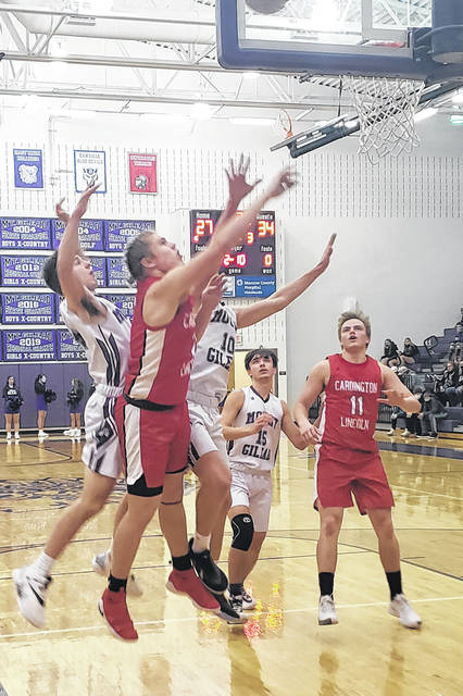 Cardington's Nate Hickman scored all 10 of his points in the second half of Friday's game at Mount Gilead.