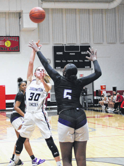 Karsyn Edwards tries to generate some offense against the Africentric defense on Friday night.