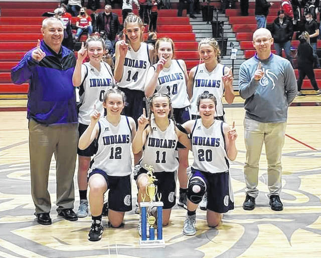 Mount Gilead's eighth grade girls' basketball team was the 2021 KMAC champions with a 16-1 record. They also won the league in seventh grade and have a combined record of 32-1 over the two years. Members of the team were Olivia Long, Sofia Schroeter, Faith White, Crimson Lawrence, Ava Baker, Kaydence McKenzie and Trinity Schrote. Mark Kennon was the head coach, while Heath Looker served as assistant.