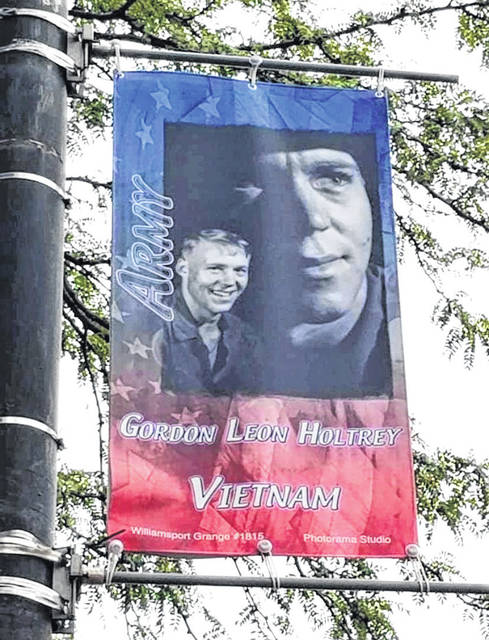 One of the banners that hung downtown last year.