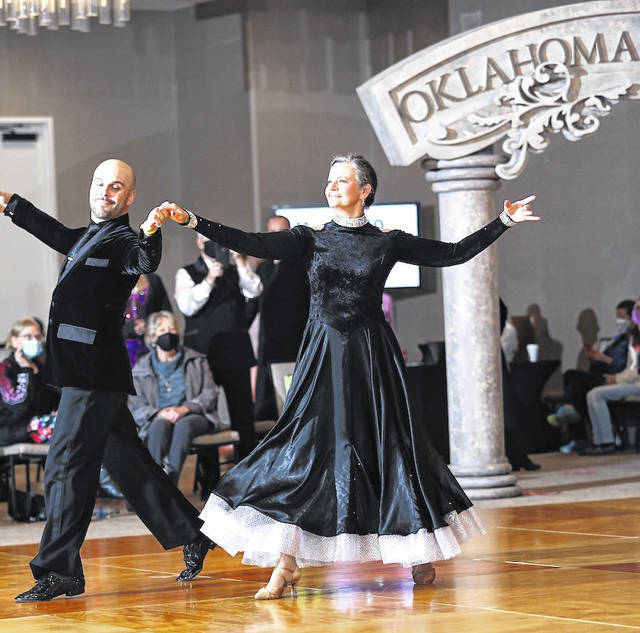 Josh Tilford and Debbie Yoho competing in the recent Oklahoma Dance Rush 2021.