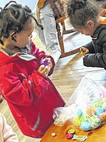 Easter Bunny gets a little help from Safe Harbor Peer Support Services