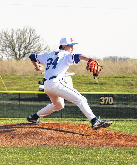 Highland pitcher Wyatt Groves opened Friday's game against Centerburg with three perfect innings to help the Scots pick up an 18-3 win.