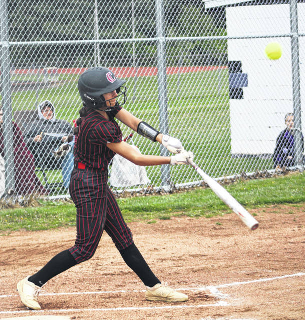 Cardington's Hailee Edgell had a big game at Mount Gilead Thursday, tallying five hits in her team's win over the Indians.