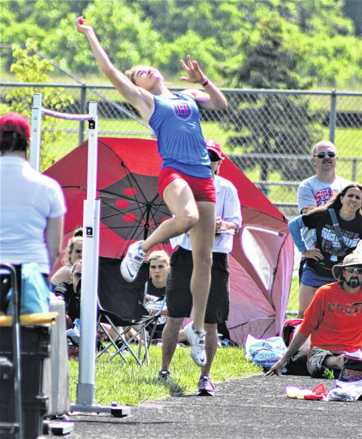 Highland sophomore Juliette Laracuente placed third in the finals of the girls high jump on Friday, June 4, 2021, at the OHSAA Division II track and field championships at Pickerington High School North. She will compete in the long jump and 4x100-meter relay finals on Saturday at Pickerington North.