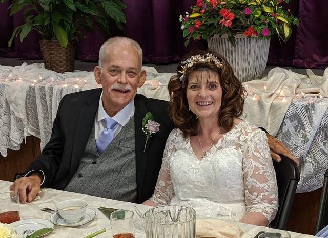 Steve and Marilyn Dabney at their May 22 wedding.