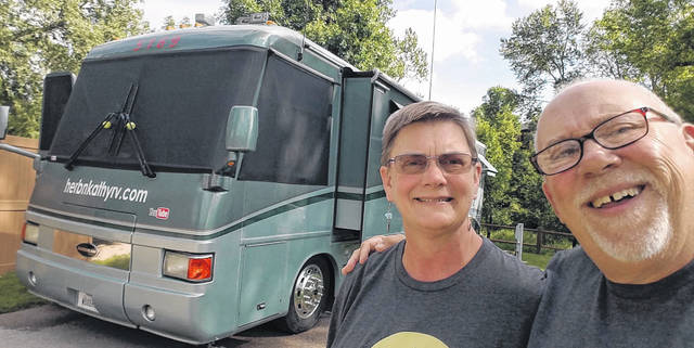 Herb and Kathy Baldwin with their Airstream will head out on the road after a year-long hiatus in Mount Gilead.