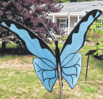 The butterfly sculpture in the Hospice of Morrow County garden is a symbol of the Hospice mission to give hope and comprehensive, comforting care to persons and their families toward the end of life with a compassionate team.