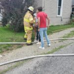 No one injured in village house fire