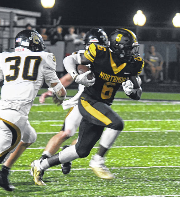 Northmor's Max Lower helped his team finish with 323 rushing yards in its 37-20 win over visiting South Central. Lower personally finished with 111 yards, a touchdown and a pair of two-point conversions.