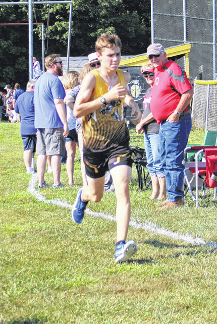 Northmor's Ryan Lehman finished second in the boys' meet at Monday's Northmor Invitational.