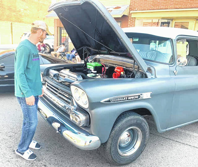 Visitors came to Mount Gilead Saturday for the annual car show held in conjunction with the Village Merchants Association's Downtown Days. Thirty-two vehicles were entered and judged. Gilead Christian School had a bake sale, Perry Cook Memorial Library had children's activities and Cub Scout Pack 56 sold popcorn. The final Downtown Days event is Saturday, Oct. 9. • More photos online at morrowcountysentinel.com.