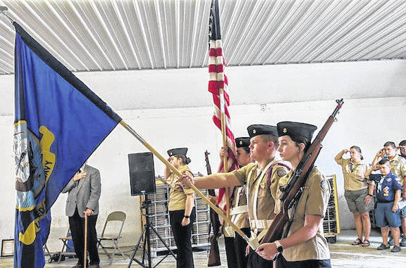 Highland NJ ROTC were present at the Morrow County Fair Tribute to Veterans.