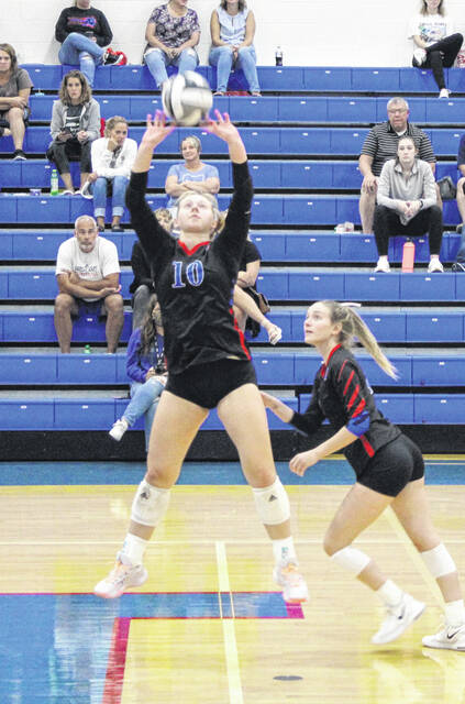 Ashlynn Belcher was recognized by Highland for passing the 2000-assist mark after her volleyball topped River Valley in three sets.
