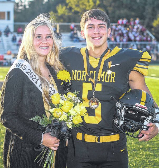 Niko Christo was chosen Homecoming King and Paige Caudill Queen during pre-game festivities Friday, Sept. 24.