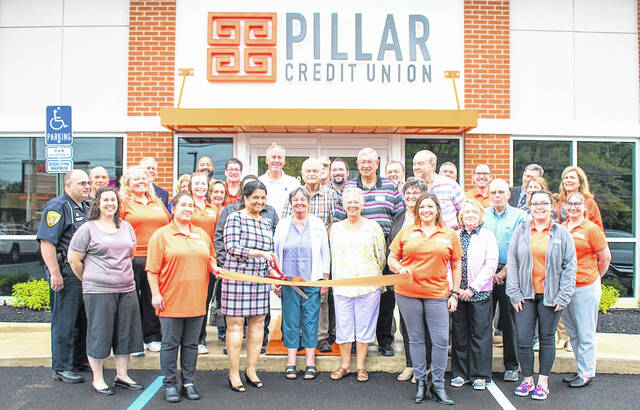 Pillar Credit Union held its ribbon cutting ceremony Friday, Oct. 8 at 869 Meadow Drive in Mount Gilead. Employees, community leaders and the Morrow County Chamber of Commerce took part in the event. To learn more go to bankwithpillar.com.